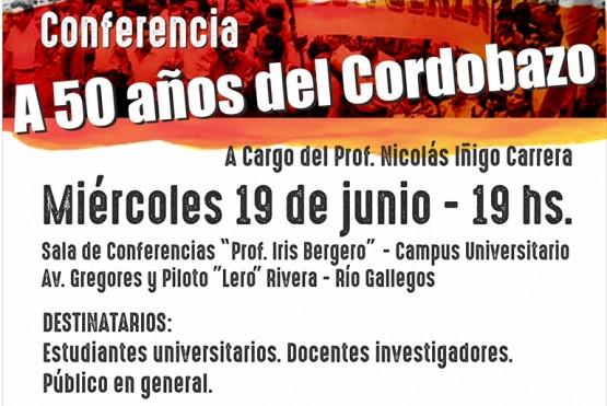 """Nicolás Iñigo Carrera brindará una conferencia """"A 50 años del Cordobazo"""""""
