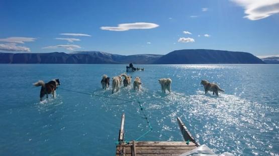La imagen que alerta por el cambio climático en Groenlandia
