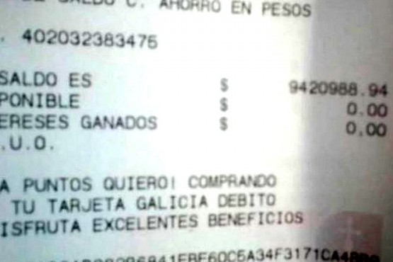 Un empleado municipal fue al cajero y le habían depositado más de $ 9 millones