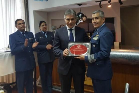 El vicegobernador participó del Aniversario de la Base Aérea Militar