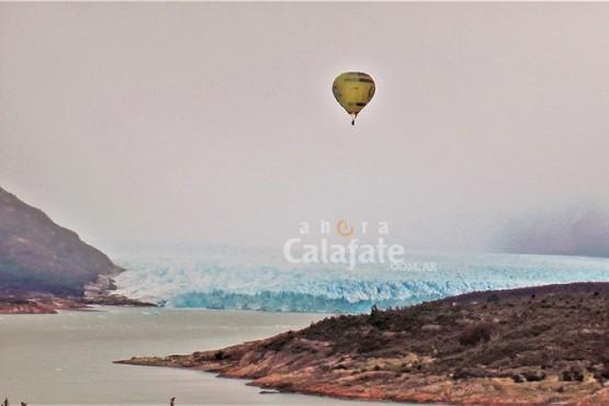 Cuatro globos pudieron despegar para sobrevolar el parque nacional Los Glaciares