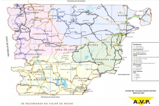 Estado de las rutas nacionales en el día de hoy