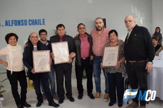 Giubetich se mostró con Prades en la inauguración de una obra en Caleta Olivia