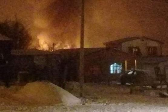 Dantesco incendio generalizado en Tolhuin