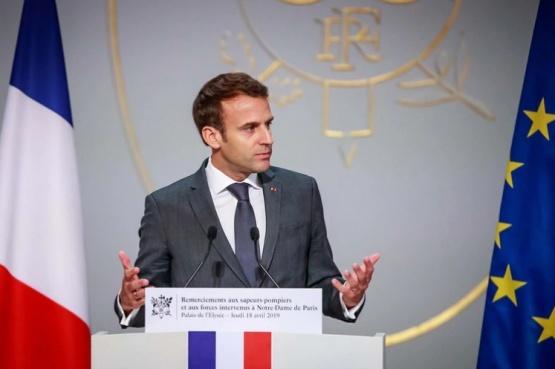 El presidente francés Emmanuel Macron (Christophe Petit Tesson via REUTERS)