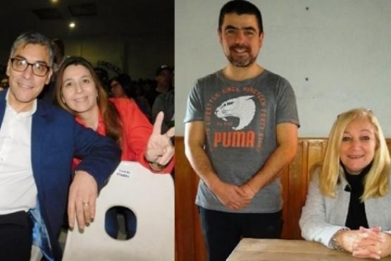 Eloy Echazú con Claudia Pincunteuro y Conrado Salas con Milena Radic.