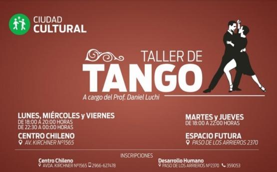 Daniel Luchi realizará taller de tango