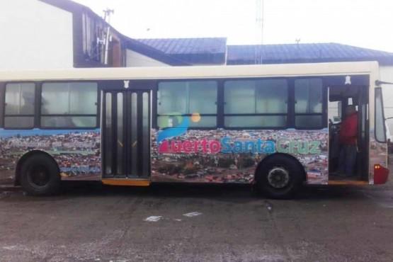 Unidad de transporte escolar de Puerto Santa Cruz
