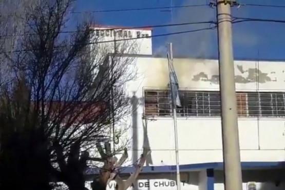 Incendio en la alcaldia de Comodoro Rivadavia