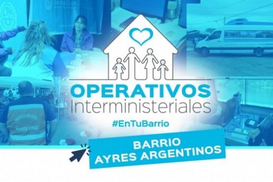 #OperativoInterministerial en el Barrio Ayres Argentinos
