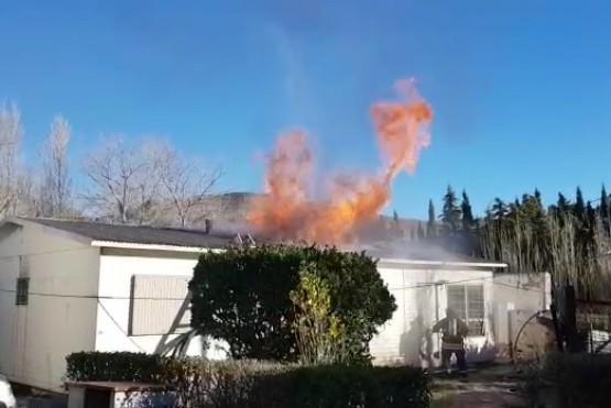 Grave incendio en el Chalet Huergo