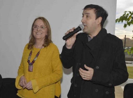 Alicia y Grasso durante la inauguración.