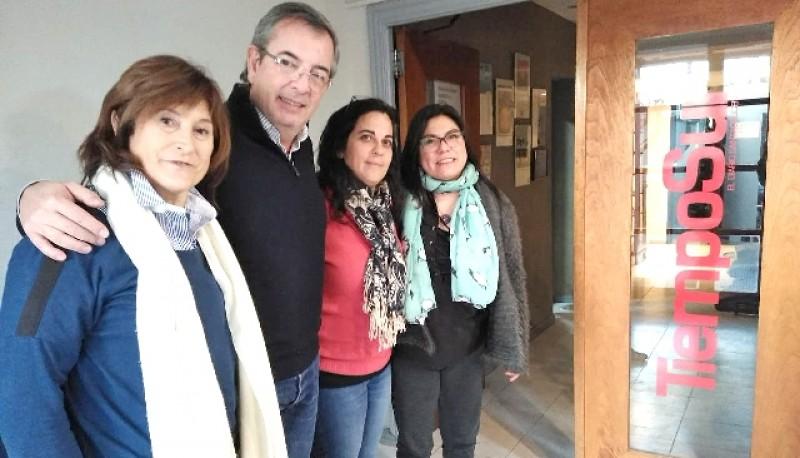 Bibiana Reibaldi y Analía Kalinec de visita en TiempoSur