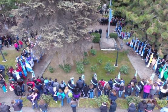 """Acto por del """"Día de la Independencia"""" en El Calafate"""