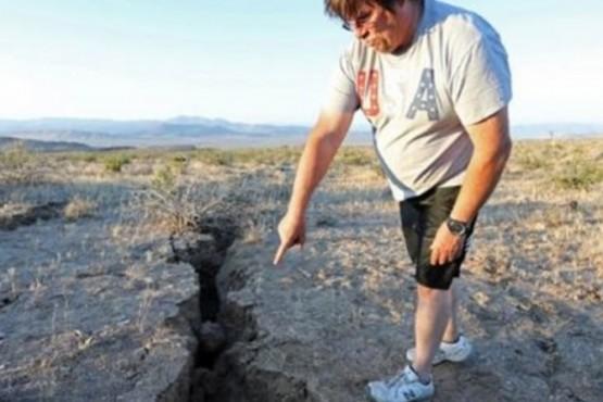 El terremoto de California dejó una gigantesca grieta que se puede observar desde el espacio