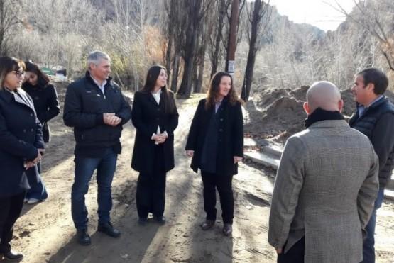 Ministra de Gobierno supervisó obras en Dique Florentino Ameghino