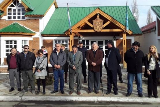 Inauguración y entrega de aportes en el aniversario de Tecka