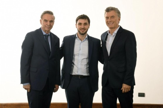 Torres junto a Macri y Pichetto: