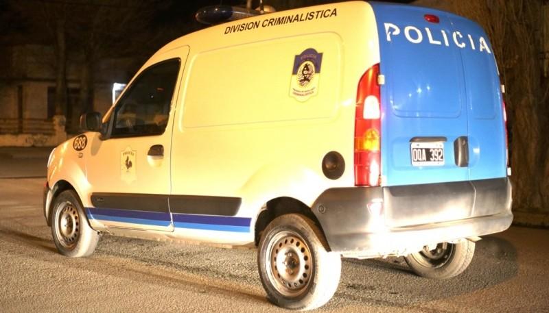 El personal de la División Criminalística realizó las pericias del caso.