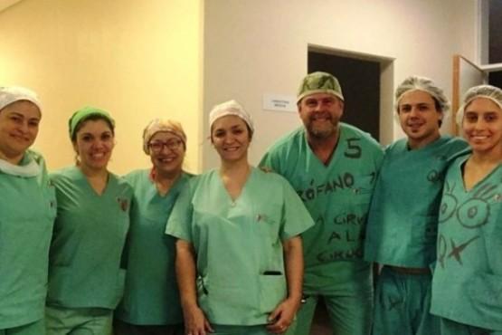 Realizaron una nueva ablación múltiple de órganos en el SAMIC