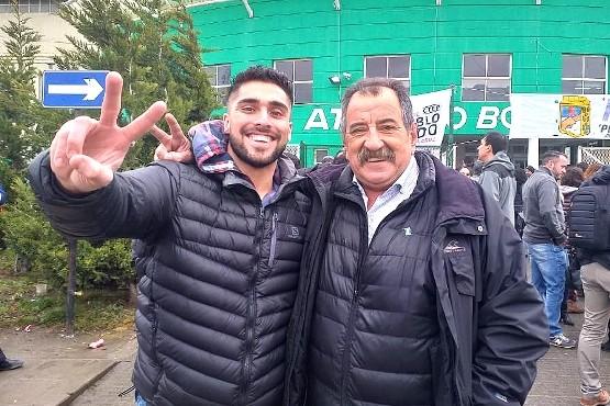 Roque Ocampo, ayer en el ingreso al Boxing para escuchar a CFK.