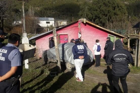 Vivienda allanada en la localidad de El Calafate.