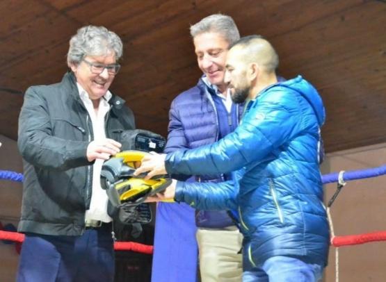 Arcioni celebró la primera realización de boxeo en comuna rural