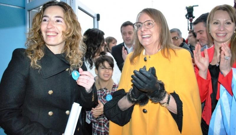 Rocío Garcia junto a Alicia Kirchner