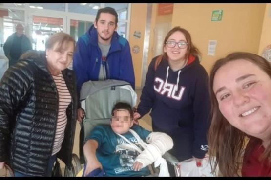 Fue dado de alta el niño que sufrió accidente en la Cuesta de Miguez