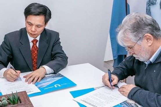 El Municipio firmó un convenio con una ciudad china