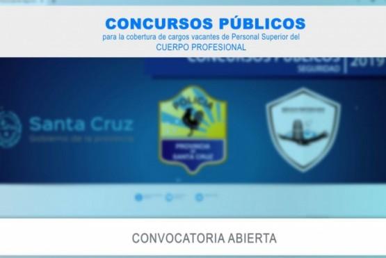 Concurso Público para incorporar cargos profesionales a la Policía y al Servicio Penitenciario