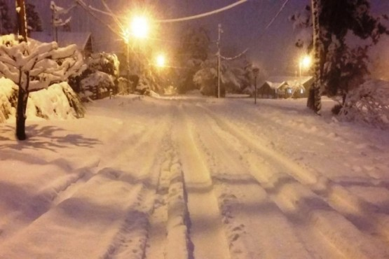 Una gran nevada cubrió Bariloche