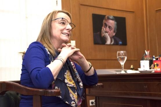 Alicia Kirchner recibió a TiempoSur en su despacho de la residencia oficial. (Foto: Cristian Robledo).