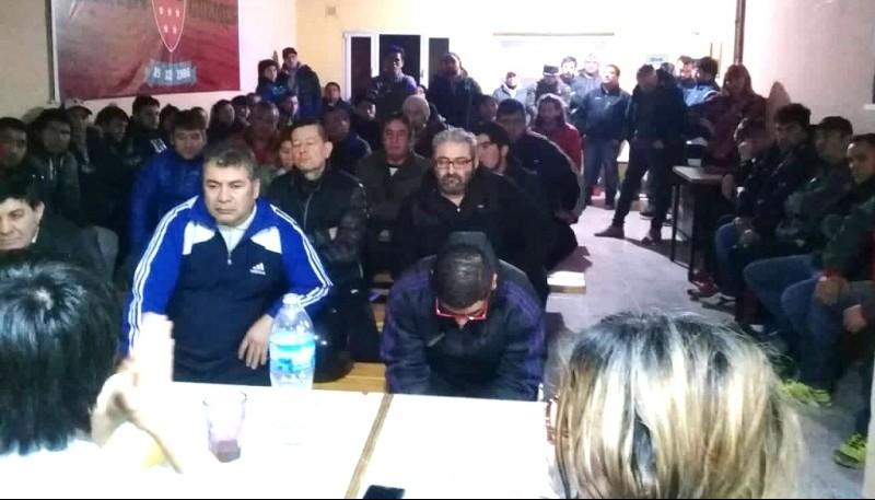 Pasaje de la reunión de dirigentes autoconvocados de la Liga de los Barrios.