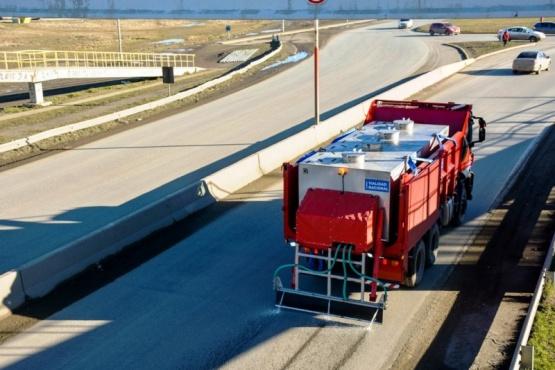 Trabajos de mantenimiento desde la Autovía hasta Güer Aike