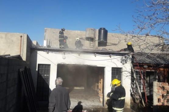 Incendio en Comodoro dejó pérdidas materiales