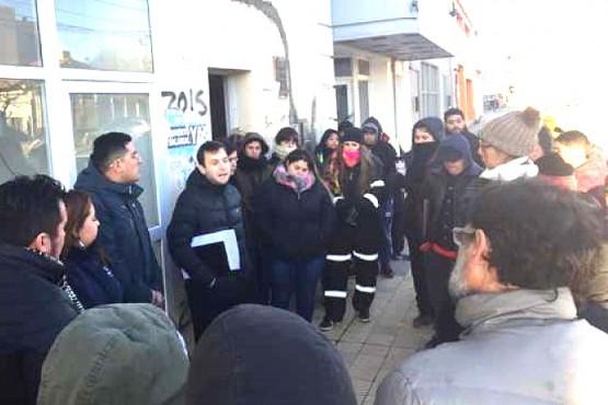 Trabajadores del SIPEM frente al Ministerio de Trabajo