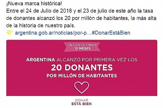 Se realizaron 888 procesos con donación de órganos del 24 de julio de 2018 al 23 de julio de este año.