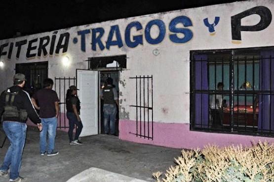 Uno de los operativos contra redes de trata y narcotráfico en Chubut