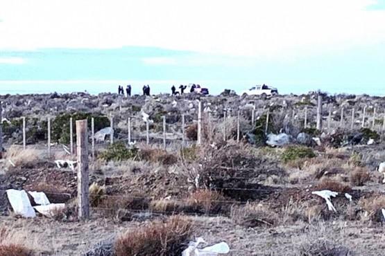 Lugar donde encontraron el cuerpo de Juan Carlos Castro.