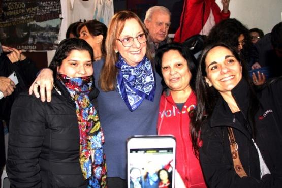 Alicia Kirchner en su visita a El Calafate.