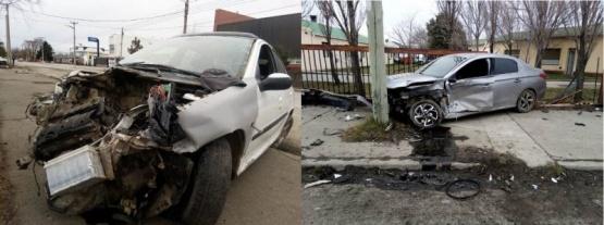 Violenta colisión en cercanías al Hospital Regional (VIDEO)