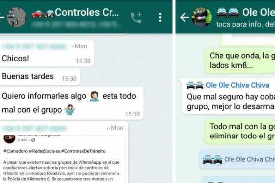 Se desactivó otro grupo de WhatSapp que alertaba controles de tránsito