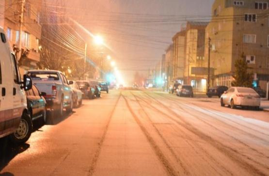 Volvió de forma breve la nieve en Río Gallegos