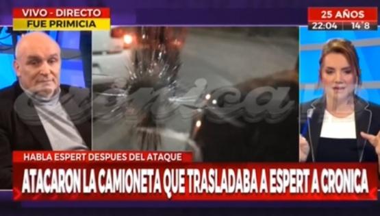 Espert denunció que atacaron la camioneta en la que se trasladaba