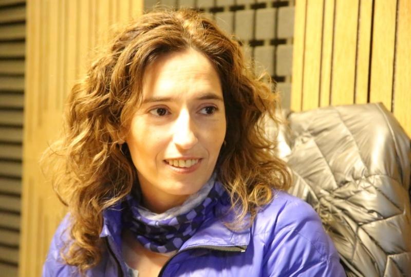Rocío García en Tiempo FM. (Cristian González)