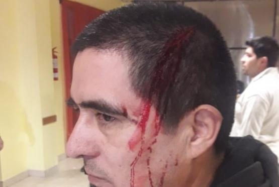 Uno de los fiscales atacado.