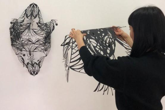 Alejandra Montiel prepara su muestra