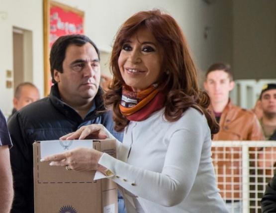 Cristina Fernández en las elecciones 2015.
