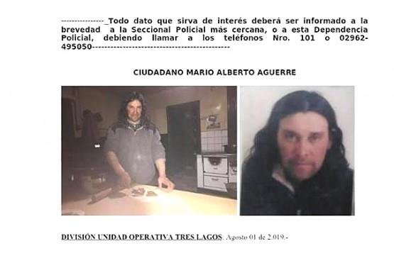 Gendarmería se suma a la búsqueda de Aguerre